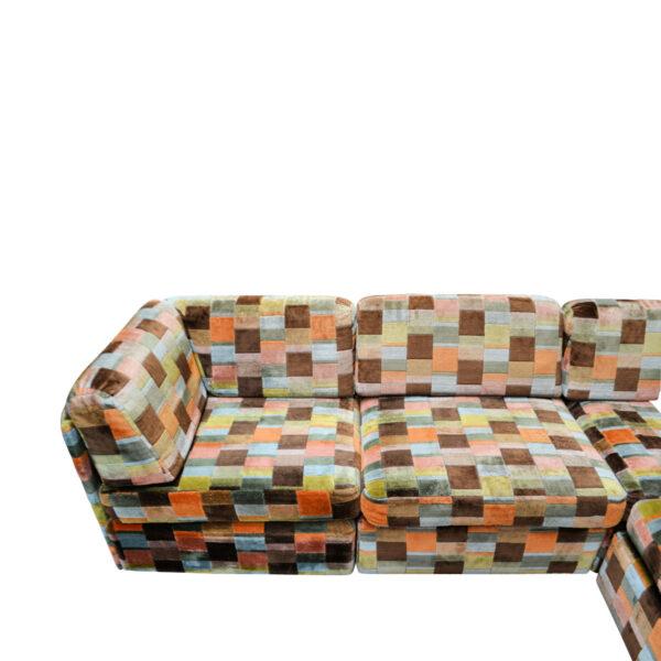 Vintage Swedish Modular Patchwork Sofa