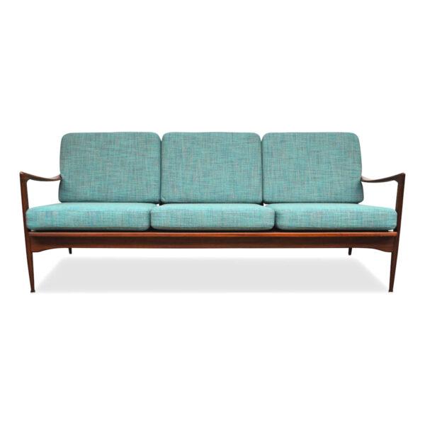 Vintage Teak Three-seater Sofa by Ib Kofod-Larsen
