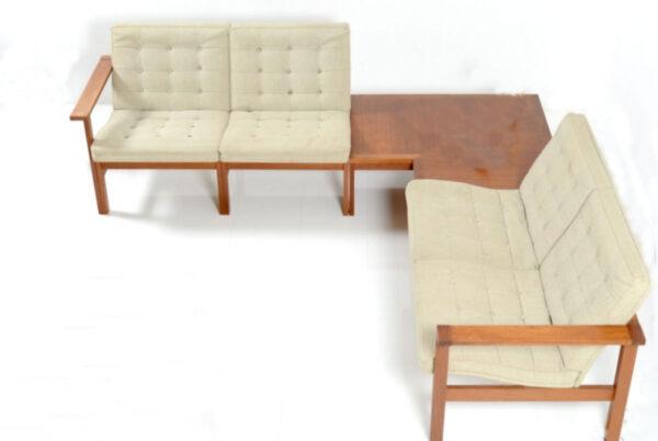 Vintage Danish Modular Seating Group Designed by Ole Gjerlov-Knudsen and Torben Lind - example arrangement