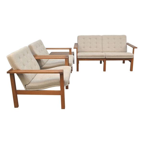 Vintage Danish Modular Seating Group Designed by Ole Gjerlov-Knudsen and Torben Lind