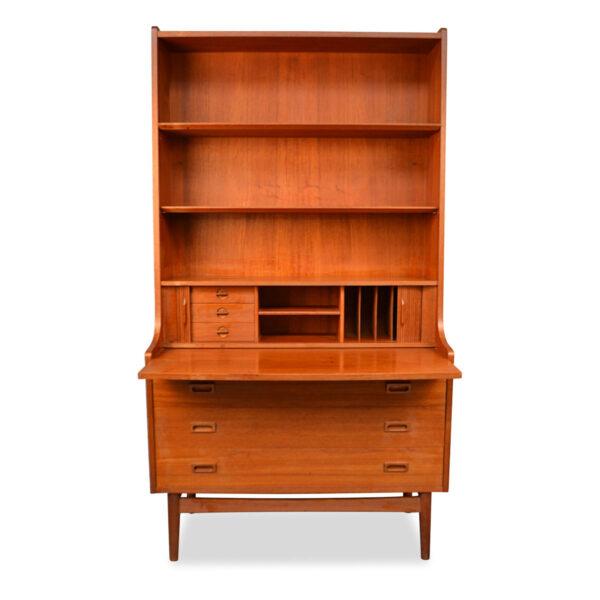 Vintage DanishTeak Bookcase/Desk by Johannes Sorth