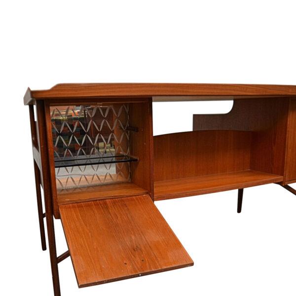 Vintage Danish Teak Desk by Svend Aage Madsen - mini bar