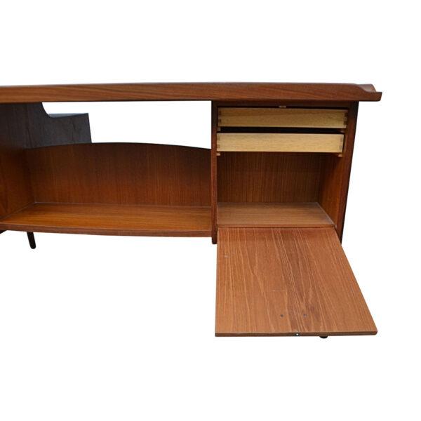 Vintage Danish Teak Desk by Svend Aage Madsen - rear storage unit
