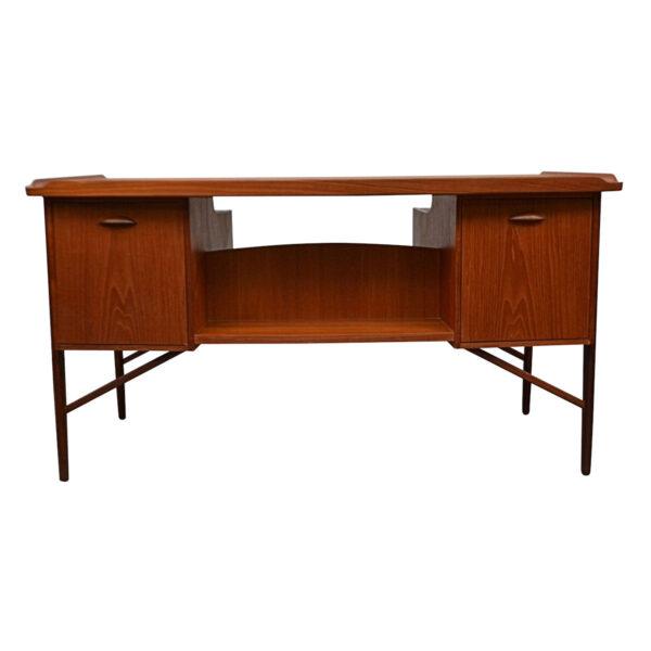 Vintage Danish Teak Desk by Svend Aage Madsen - rear