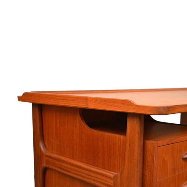Vintage Danish Teak Desk by Svend Aage Madsen - detail