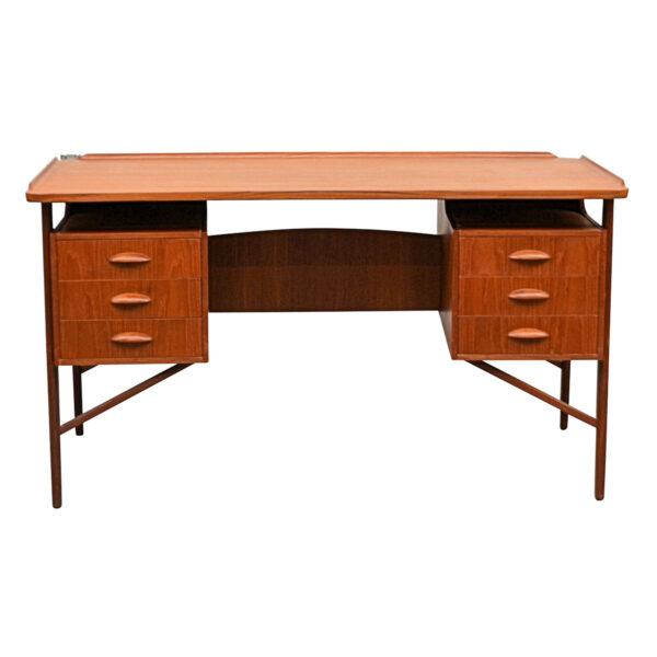 Vintage Danish Teak Desk by Svend Aage Madsen