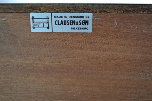 Vintage Danish Sideboard by Clausen & Son - branding