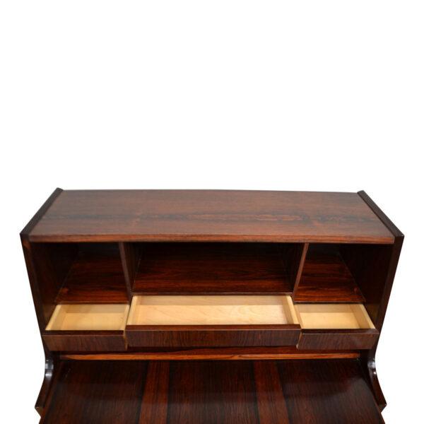 Vintage Danish Rosewood Secretaire Desk - detail