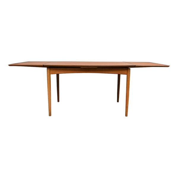 Vintage Teak Danish Dining Table by Poul Volther - extended