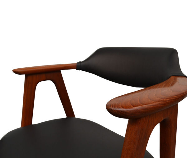 Vintage Teak Dining Chairs by Erik Kirkegaard - detail