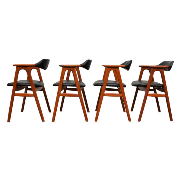 Vintage Teak Dining Chairs by Erik Kirkegaard