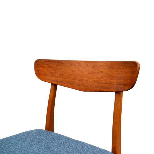 Vintage Teak/Beech Findahls Dining Chairs - detail