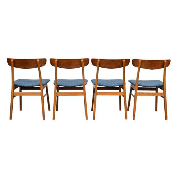 Vintage Teak/Beech Findahls Dining Chairs -back