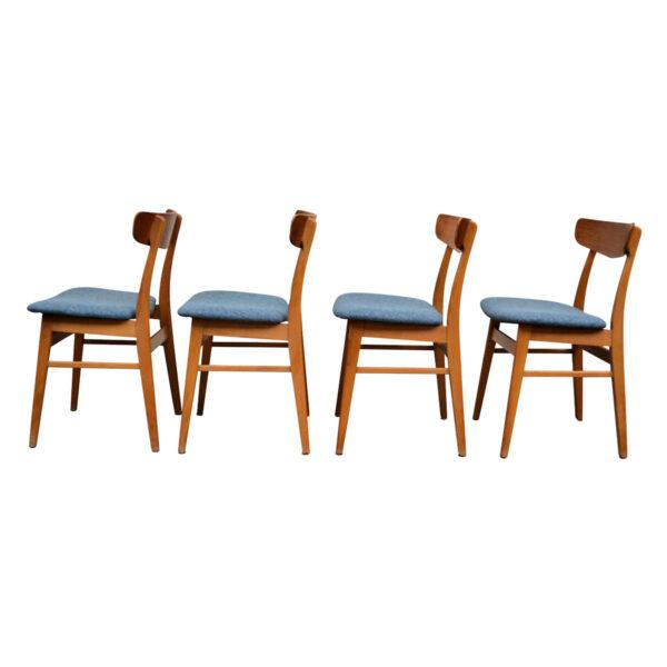 Vintage Teak/Beech Findahls Dining Chairs -side