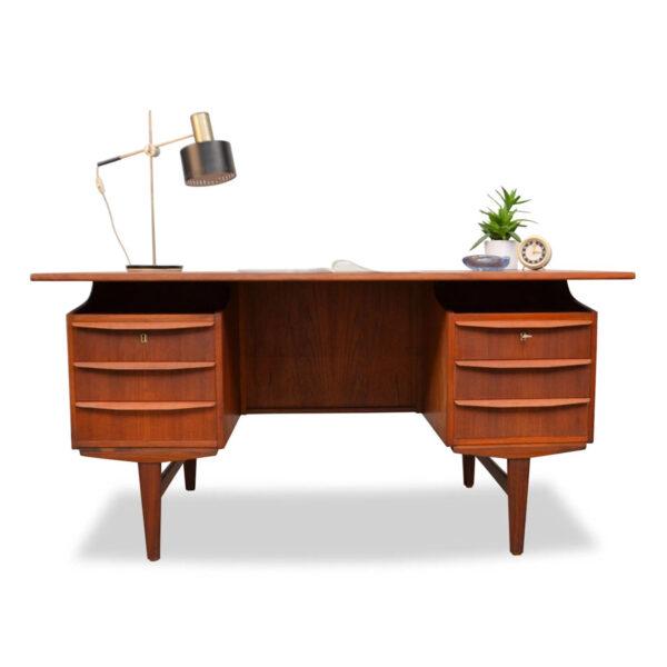 Vintage Deens teak bureau