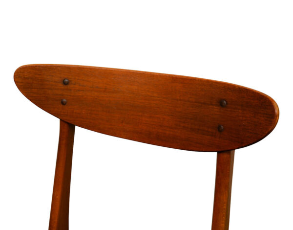 Vintage Teak Farstrup Dining Chairs - detail backrest