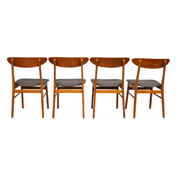 Vintage Teak Farstrup Dining Chairs - back